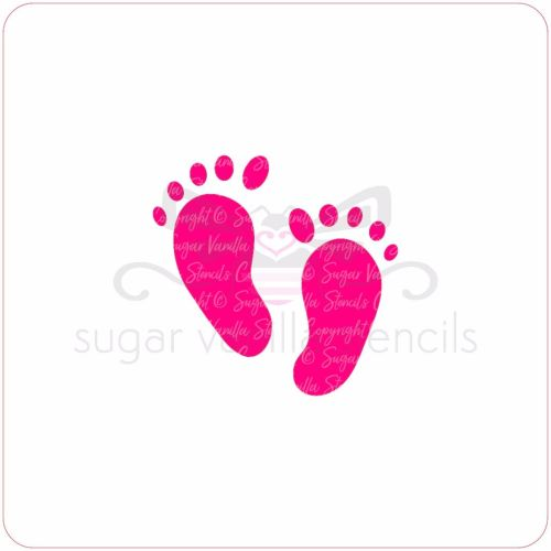 Baby Feet Cupcake Stencil