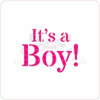 It's a Boy Cupcake Stencil