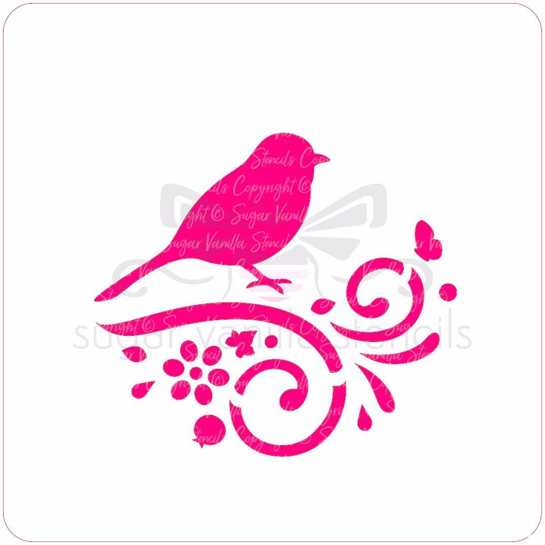 Hedgerow Bird Cupcake Stencil