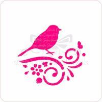 Bird Cupcake Stencil