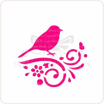 Hedgerow Bird Cupcake Stencil