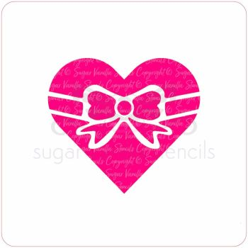 Heart Bow Cupcake Stencil