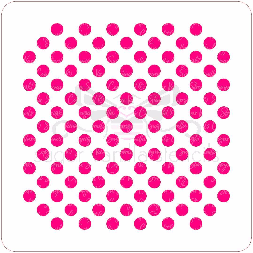Polka Dot Cupcake Stencil