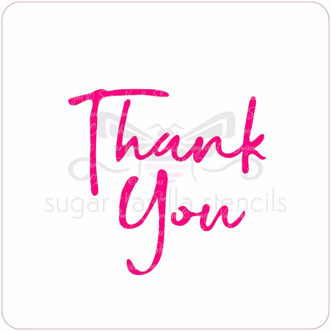 Thank You Cupcake Stencil