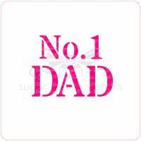 No. 1 Dad Cupcake Stencil