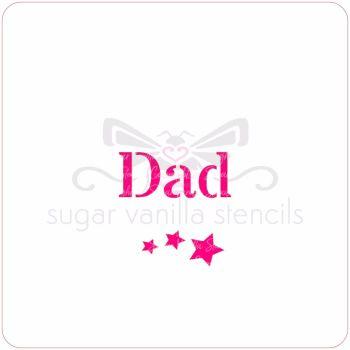 Dad Cupcake Stencil