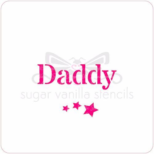 Daddy Cupcake Stencil