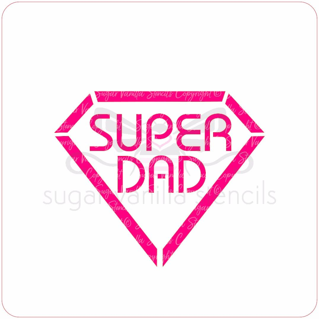 Super Dad Cupcake Stencil
