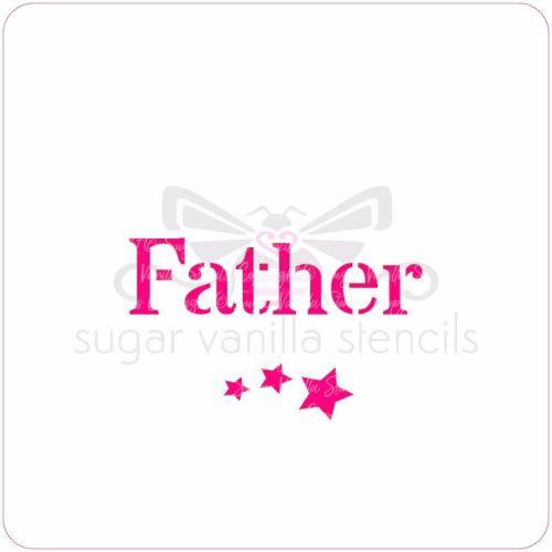 Father Cupcake Stencil