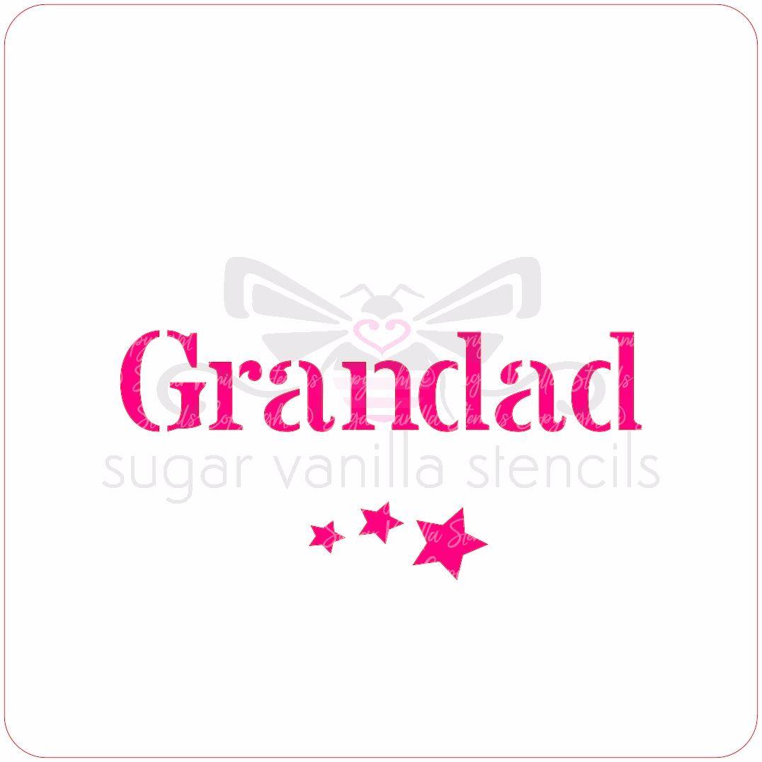 Grandad Cupcake Stencil