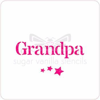 Grandpa Cupcake Stencil