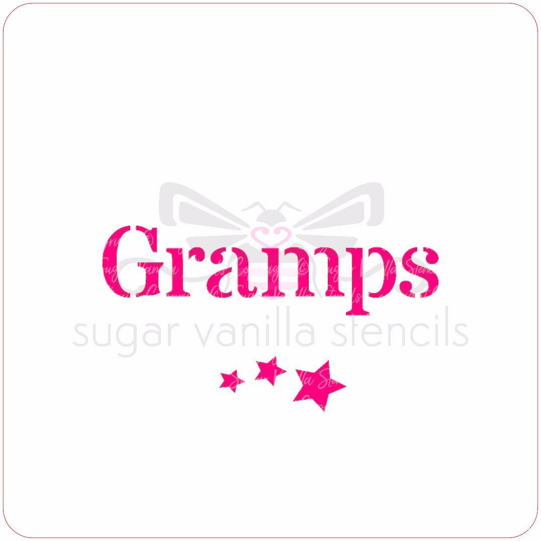 Gramps Cupcake Stencil