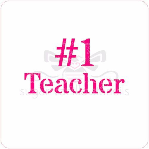 No.1 Teacher Cupcake Stencil