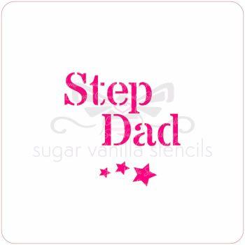 Step Dad Cupcake Stencil