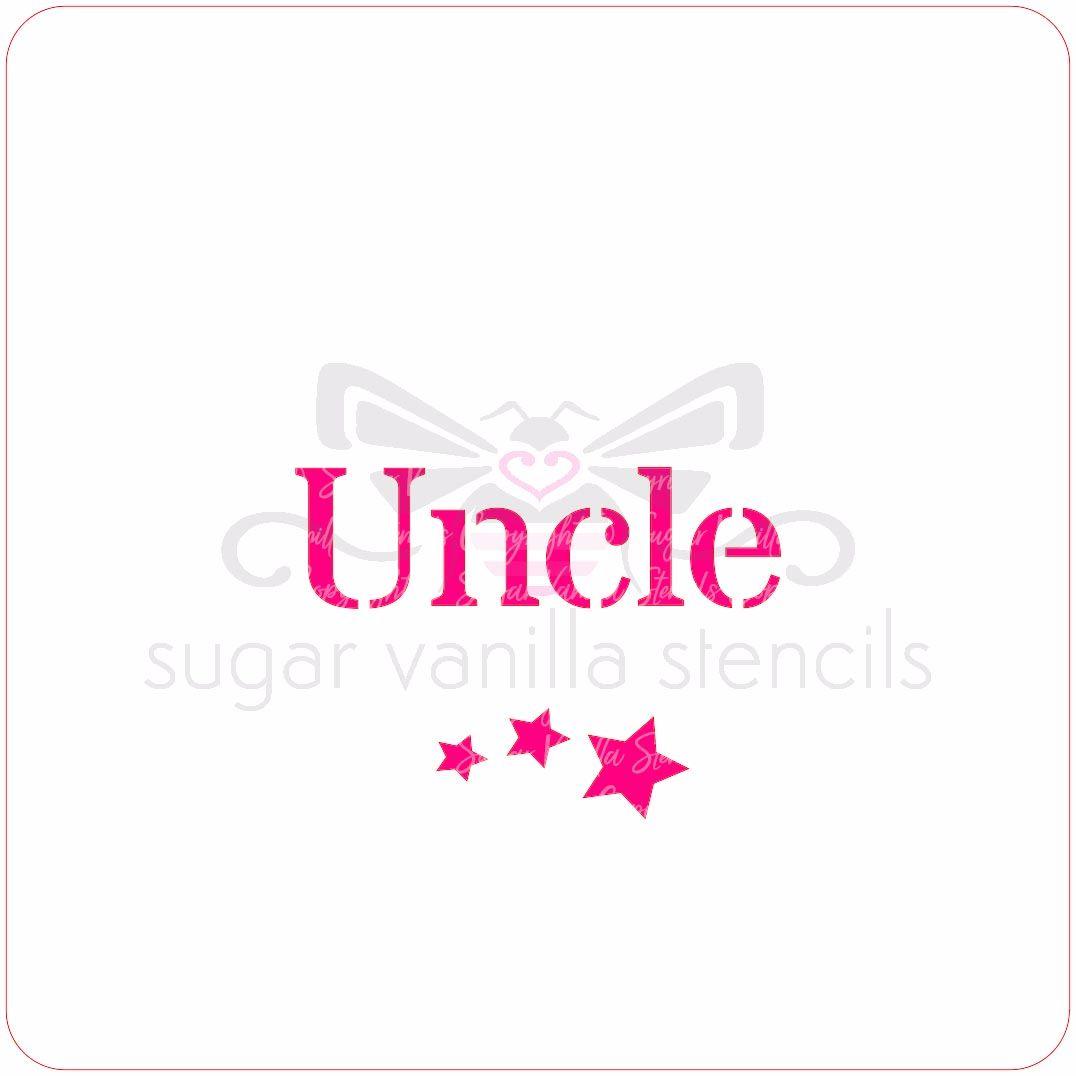 Uncle Cupcake Stencil