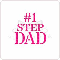 No. 1 Step Dad Cupcake Stencil