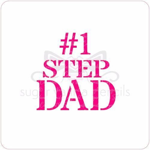 #1 Step Dad Cupcake Stencil