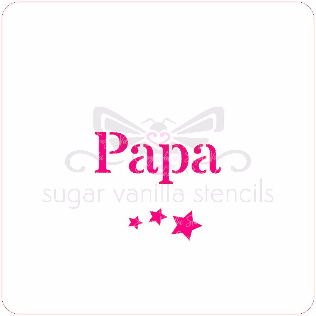 Papa Cupcake Stencil