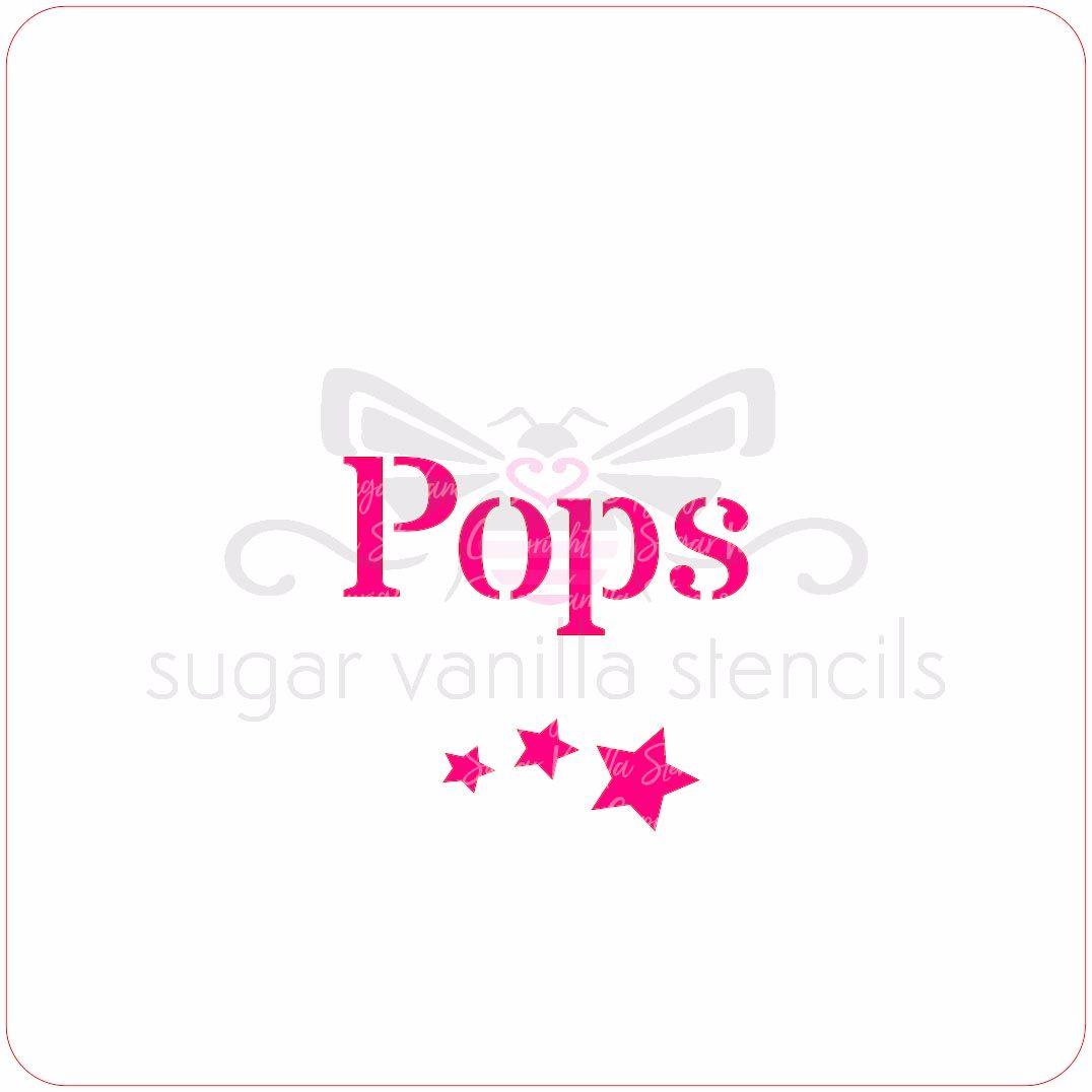 Pops Cupcake Stencil