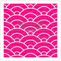 Japanese Wave Pattern Cupcake Stencil