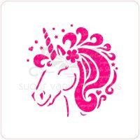 Unicorn Cupcake Stencil