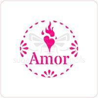 Amor Cupcake Stencil