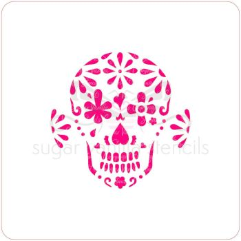 Sugar Skull Cupcake Stencil