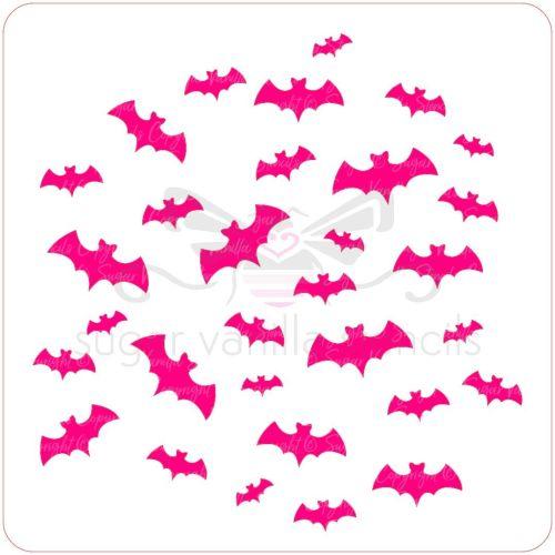 Bats Cupcake Stencil