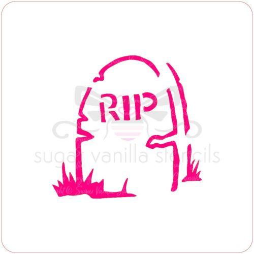 RIP Tombstone Cupcake Stencil