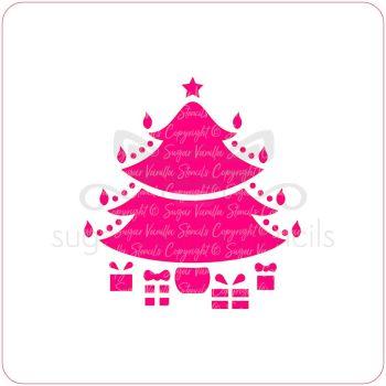 Christmas Tree Cupcake Stencil