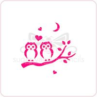 Loving Owls Cupcake Stencil
