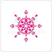 Snowflake - Crystal - Cupcake Stencil