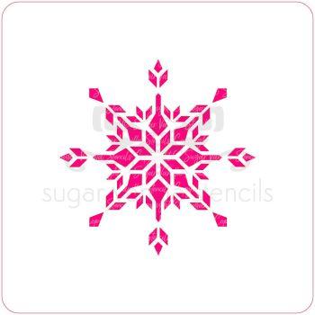 Crystal Snowflake Cupcake Stencil