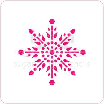 Jewel Snowflake Cupcake Stencil