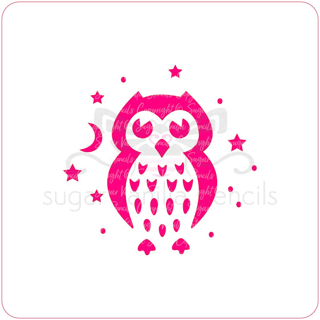 Night Owl Cupcake Stencil