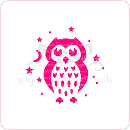 Night Owl Cupcake Stencil