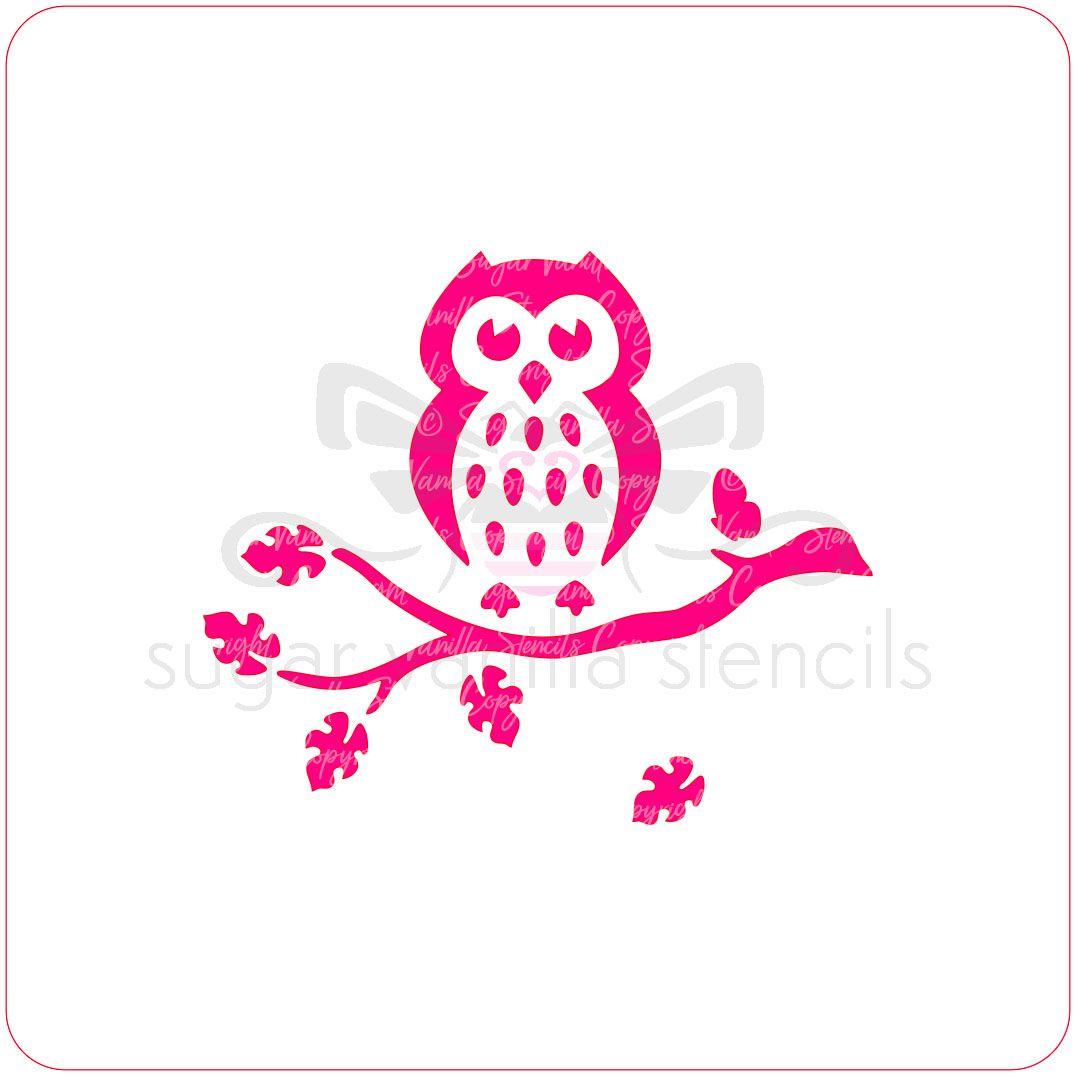 Owl Cupcake Stencil