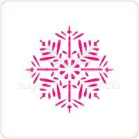 Snowflake - Pine - Cupcake Stencil