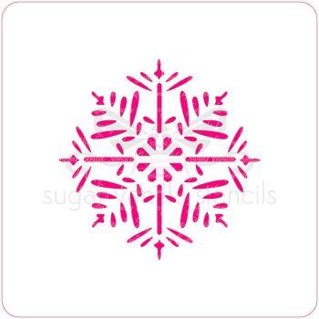 Pine Snowflake Cupcake Stencil