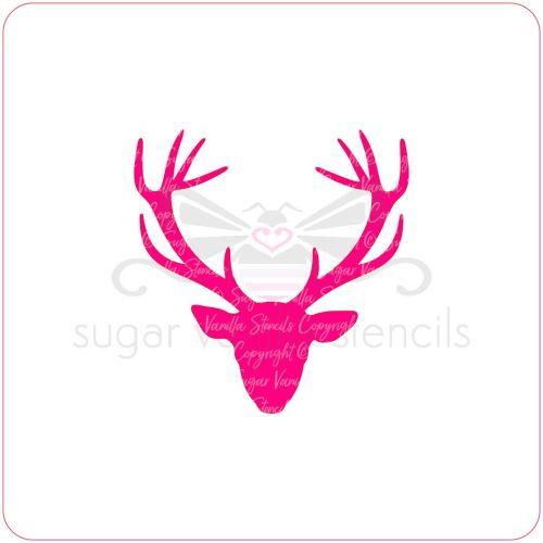 Stag Cupcake Stencil