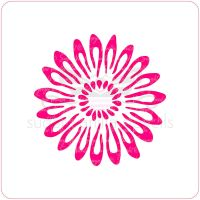 Gerbera Daisy Cupcake Stencil