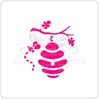 Hanging Bee Hive Cupcake Stencil
