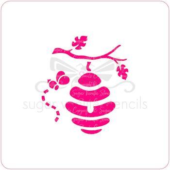 Hanging Bee Hive Cupcake Stencil