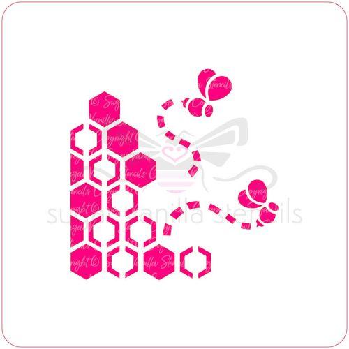 Honey & Bee Cupcake Stencil