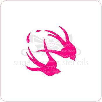 Swallows Cupcake Stencil