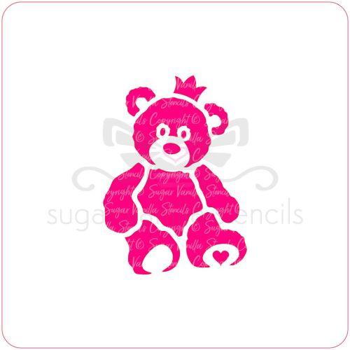 Baby Teddy Bear Cupcake Stencil