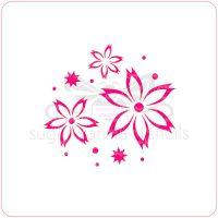 Poinsettia Cupcake Stencil