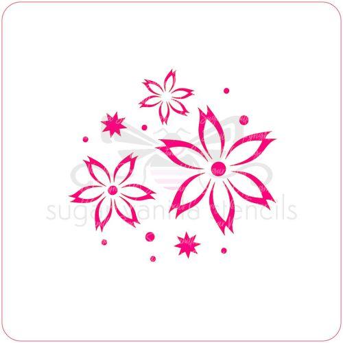 Flowers Cupcake Stencil