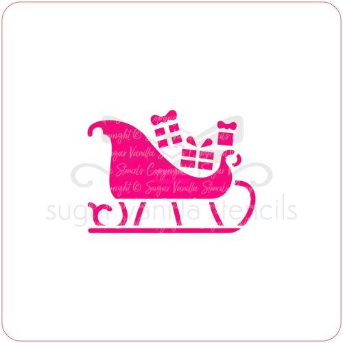 Christmas Sleigh Cupcake Stencil