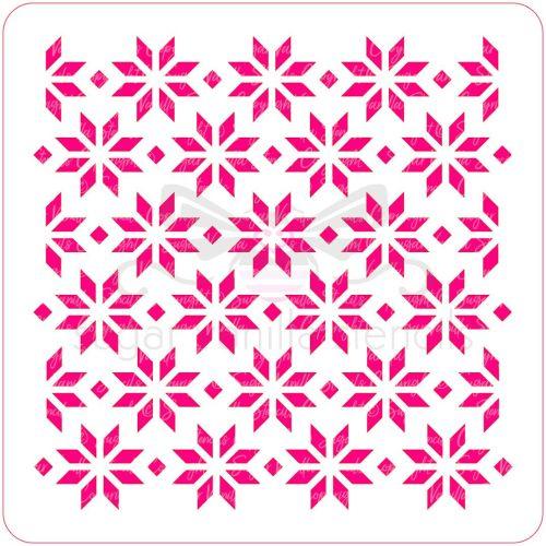 Snowflake Pattern Cupcake Stencil